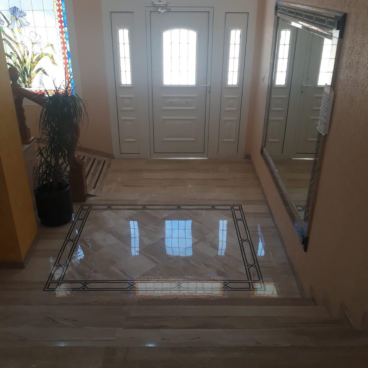 pulido y cristalizado de suelo de marmol en Alicante